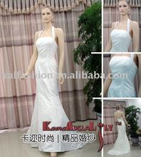 D4 Halter backless Wedding dress classic A-line formal dress