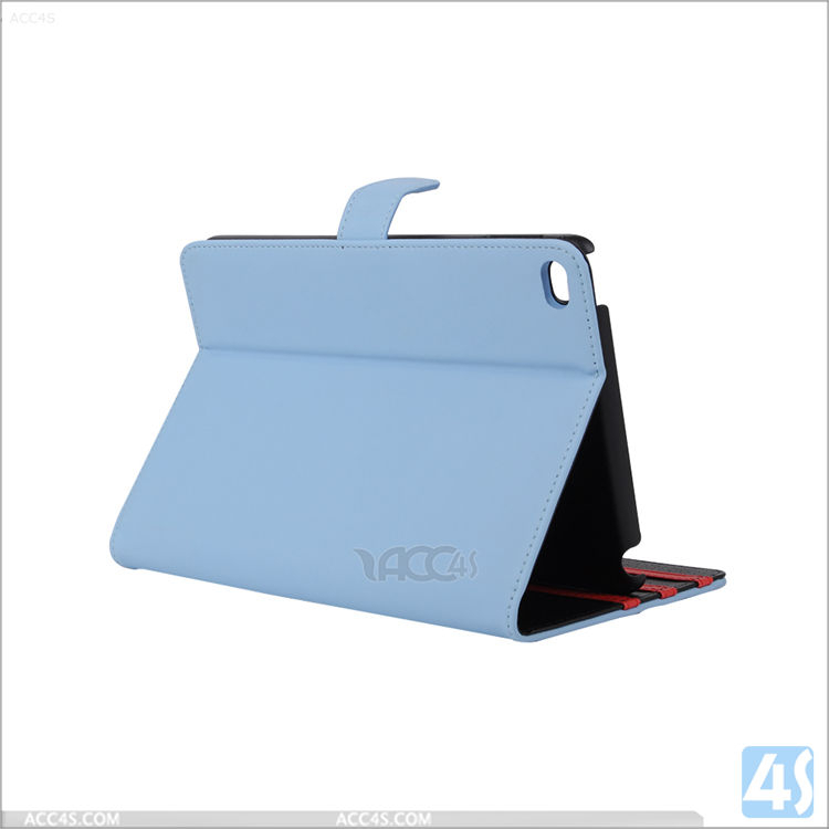 leather case for ipad mini 4 3 2 with stand card slots, korea style wallet leather tablet case cover