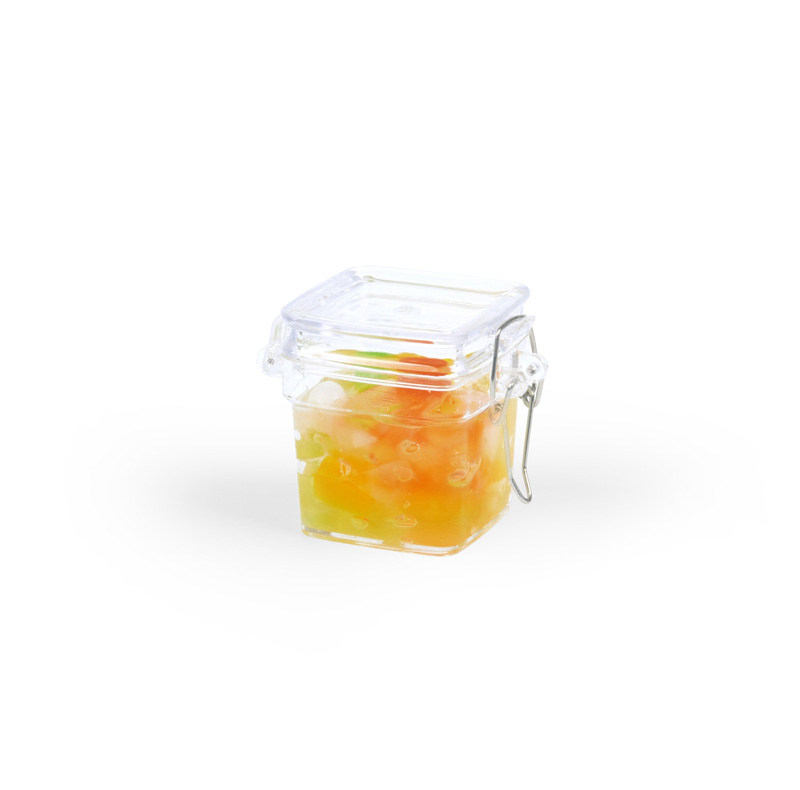 Disposable tableware 1.5oz plastic sealed spice jar from GMF