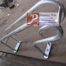 Galvanized bicycle rack for stationary riding