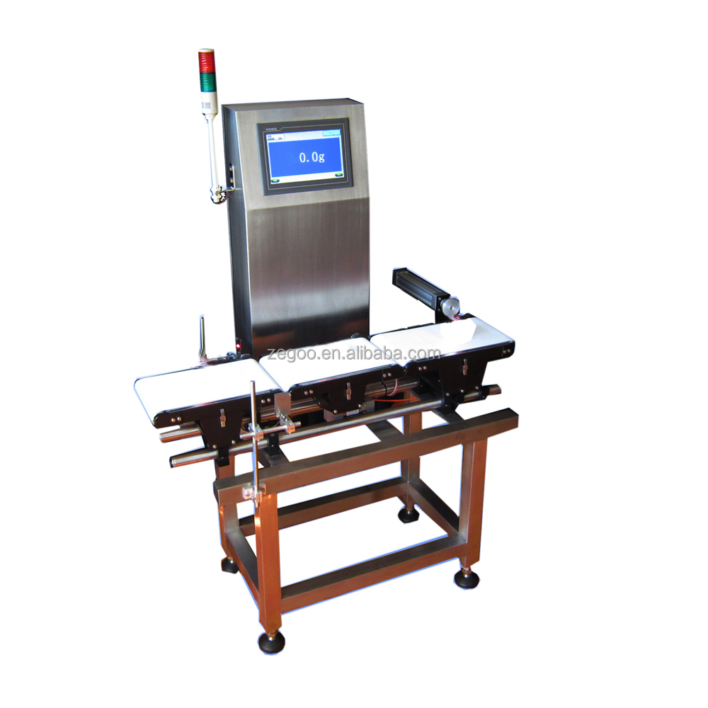 High speed online checkweigher for food