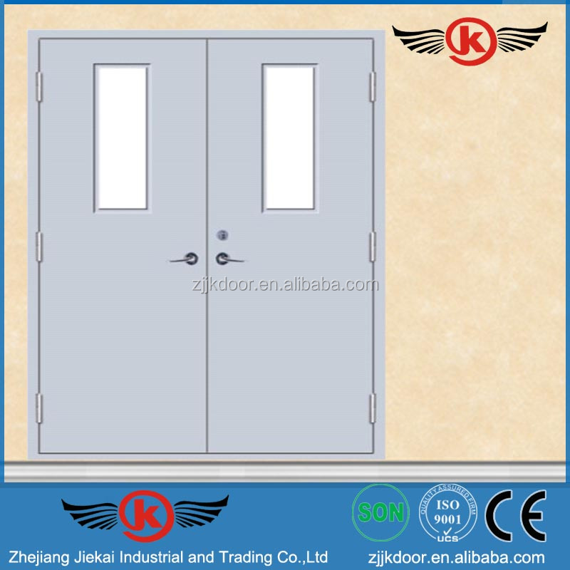 JK-F9007 commercial exterior fire rated steel door/double swing fire doors