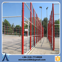 low cost used pvc coated chain link fence for sport enclosure