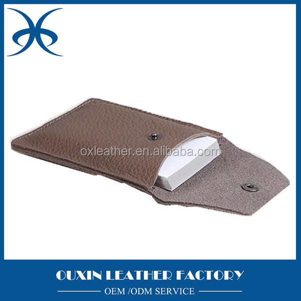 Modern new design promotional cheap faux/rexine/synthetic/imitation/PU leather namecard holder bag factory price