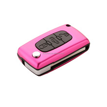 Popular Colorful 3 Button Flip Remote Replacement Key Cover Key Shell for Peugeot [AML031819]