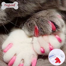 Pet Dog Cat Soft paws Nail Protector Cover with free Adhesive Glue + Applicator
