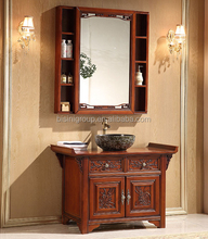Luxury Chinese Style Antique Wooden Bathroom Vanity,Traditional Bathroom Furniture with Mirror(BF08-4443)