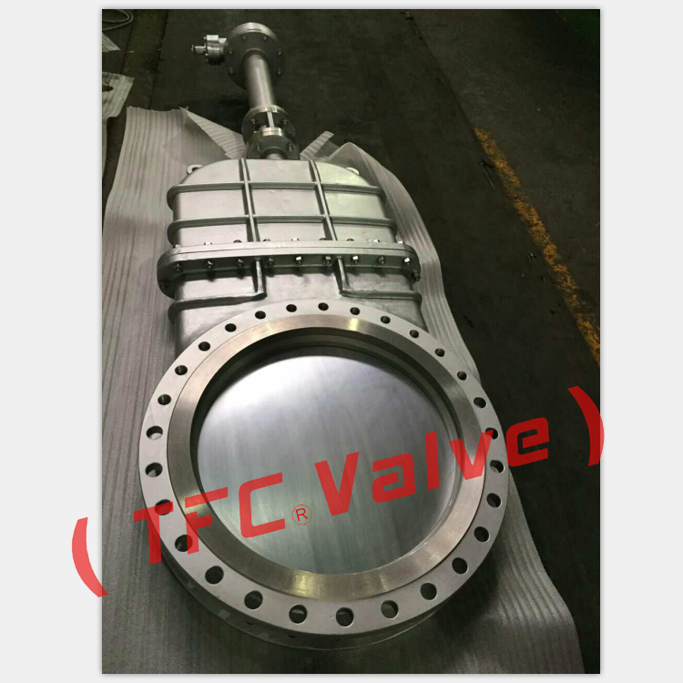 Heavy duty OEM raised face flange safety knife slurry gate valve brand manufacturers wholesale