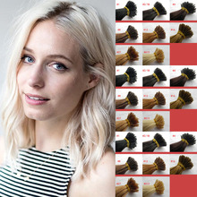 100% European remy cheap wholesale Pre bonded double drawn I tip Hair Extension 100strands Italian Glue