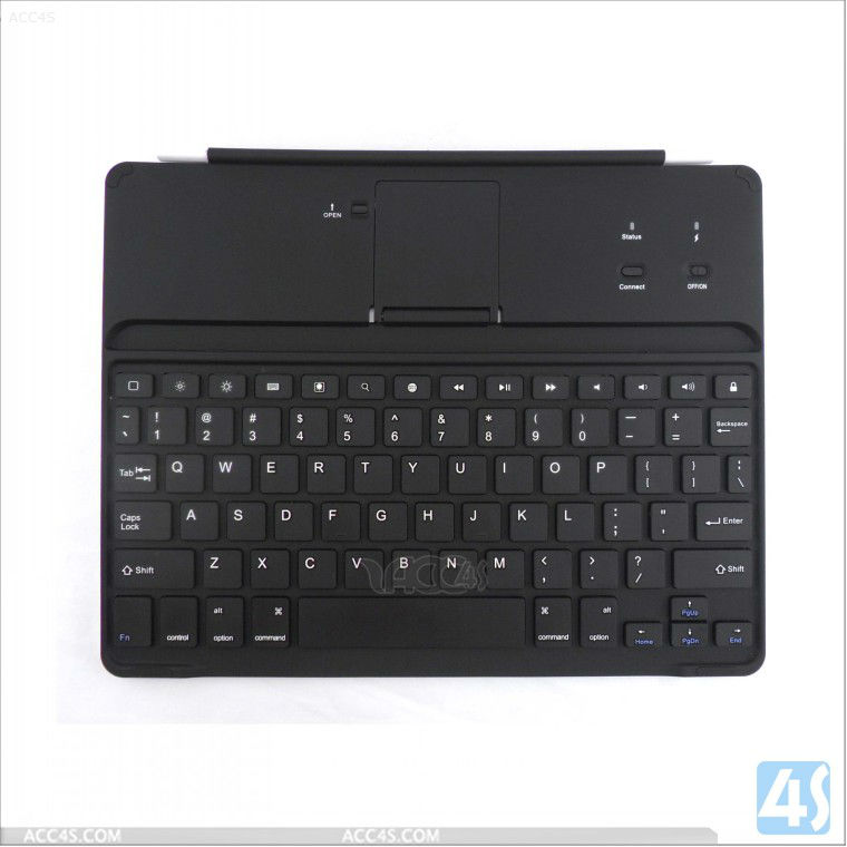 For New iPad 3 Wireless Aluminum Bluetooth Keyboard with view stand