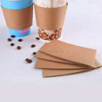 Disposable Kraft Paper Hot Coffee Cup Sleeves for 12oz and 16oz paper cup