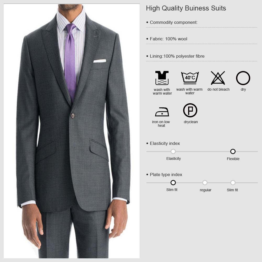 2016 Italian 100% Wool Suit Fabrics Hand Made Men Blazer ...