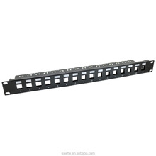 Brand factory online shopping 1U 16 PORT FTP Blank patch panel ul with support bar