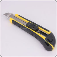 Co-molded utility knife from factory with stop