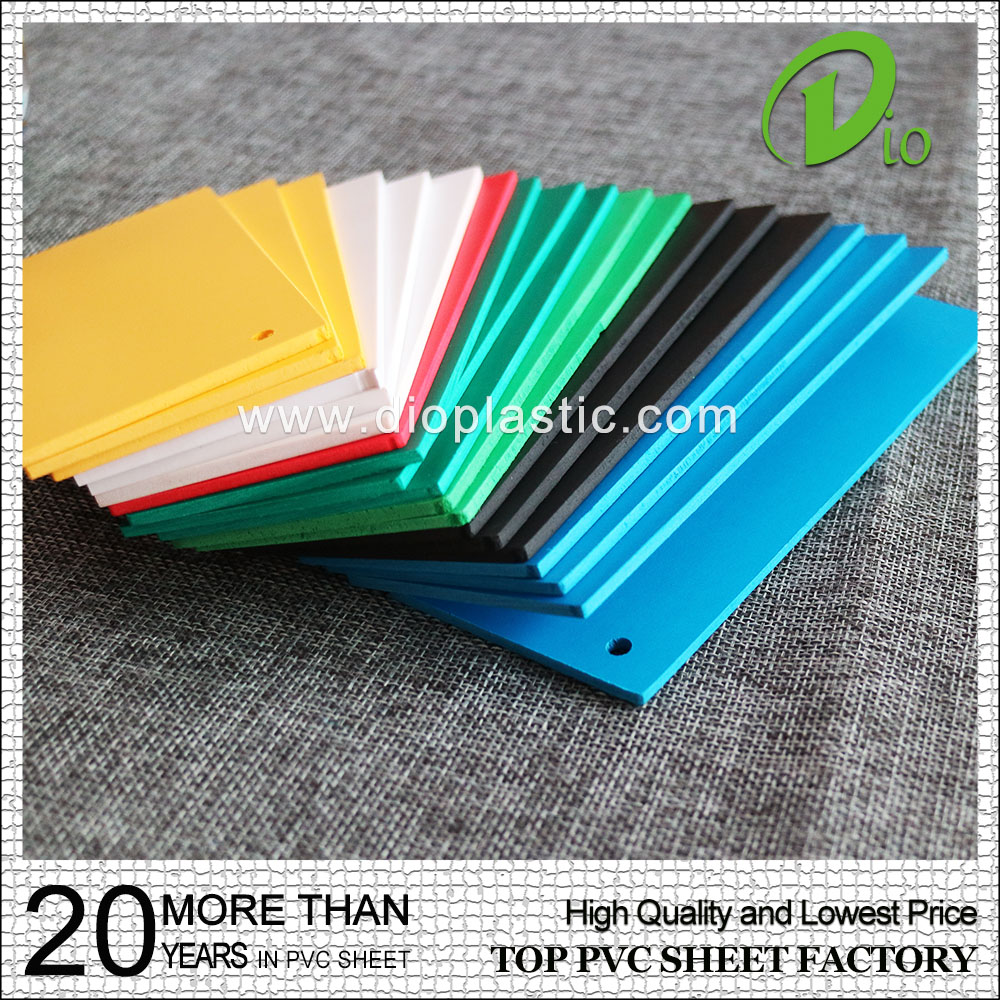 1mm waterproof pvc rigid foam forex sheet