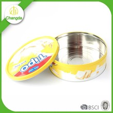 Recycled materials CMYK print metal biscuit and cookies pack tin box for christmas