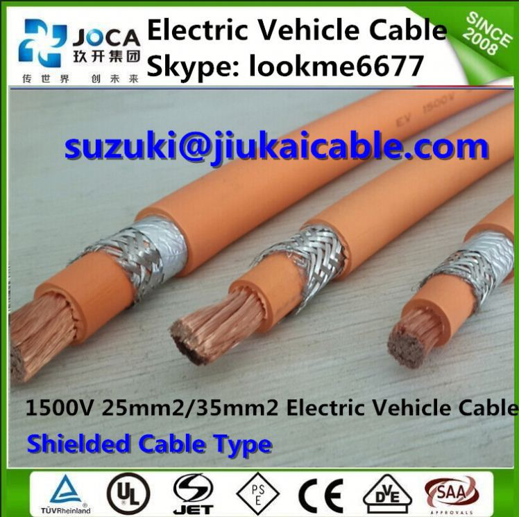 Type 1/Type 2 Tethered Charging Cable 35mm EV Cable