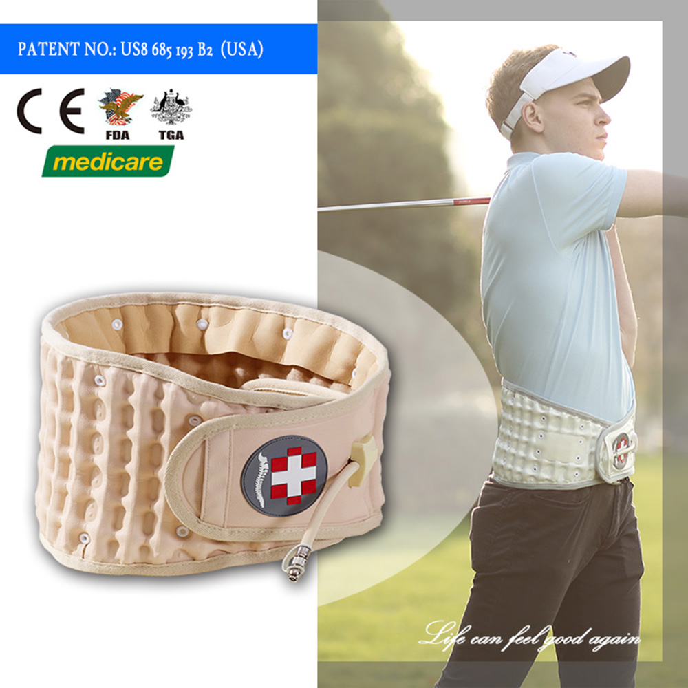 CE certificate lumbar sacral belt with bellow pot for back pain relief