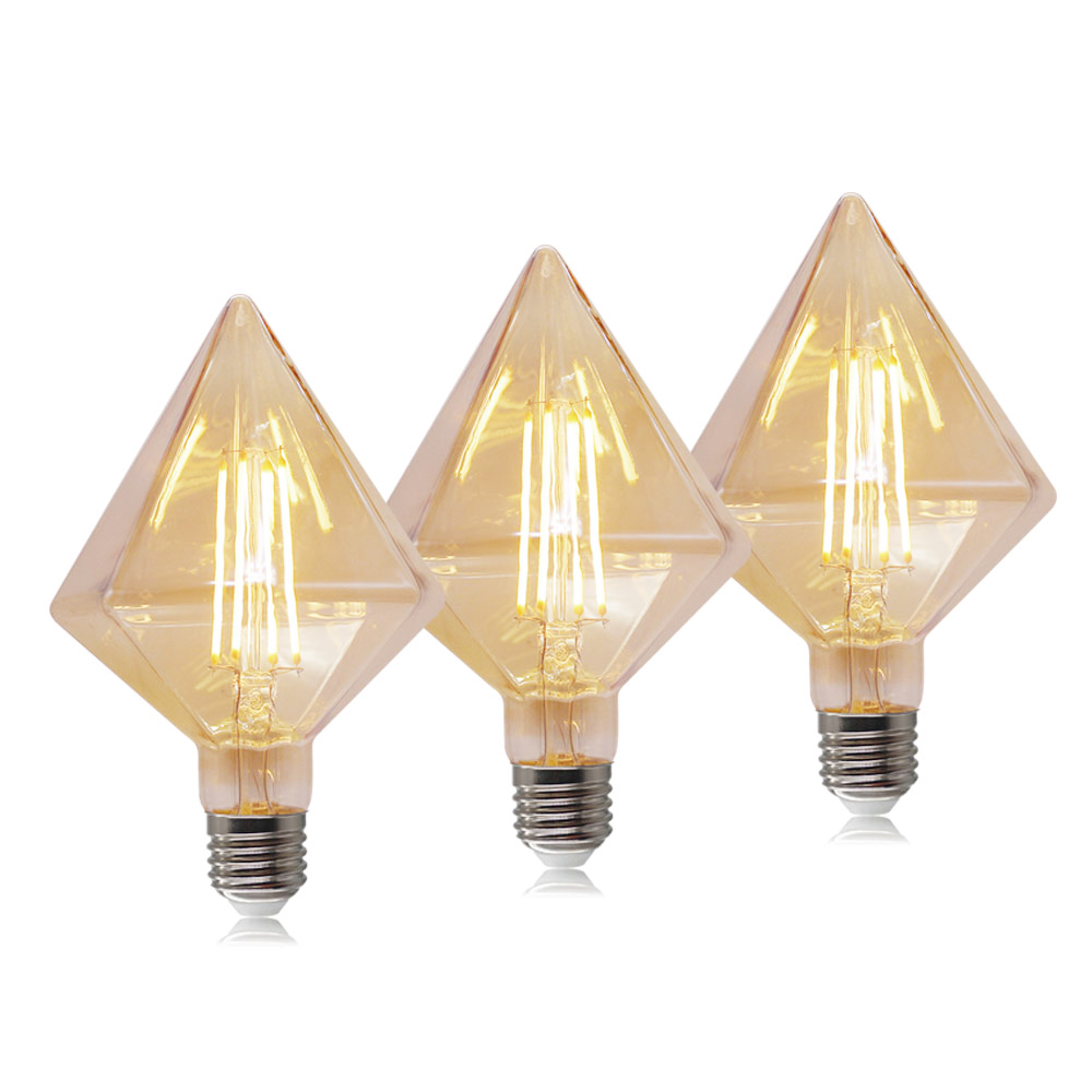 Diamond shape D95 <strong>D110</strong> warm light vintage edison e27 led filament bulb