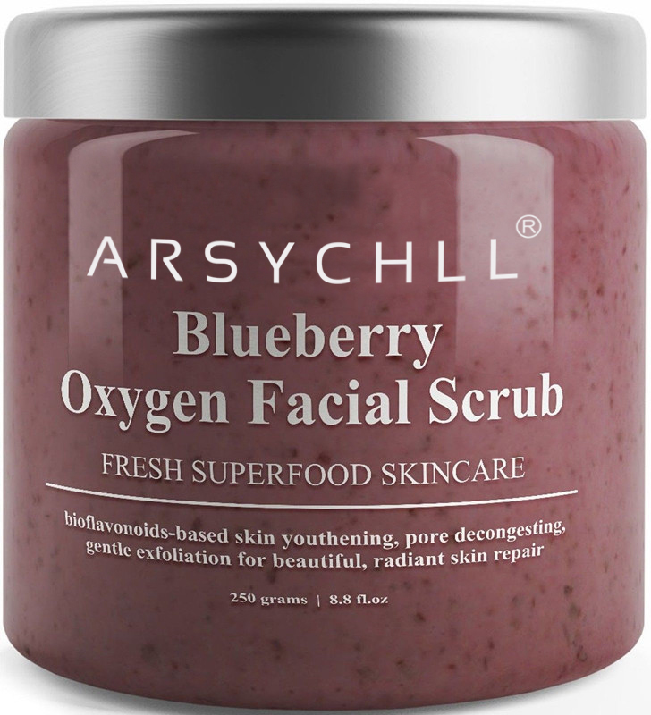 Anti-Aging - Expert Blend with Organic Ingredients Blueberry Oxygen Facial Scrub