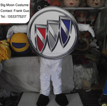 fur Car logo costume/ plush fabric Car logo mascot costume