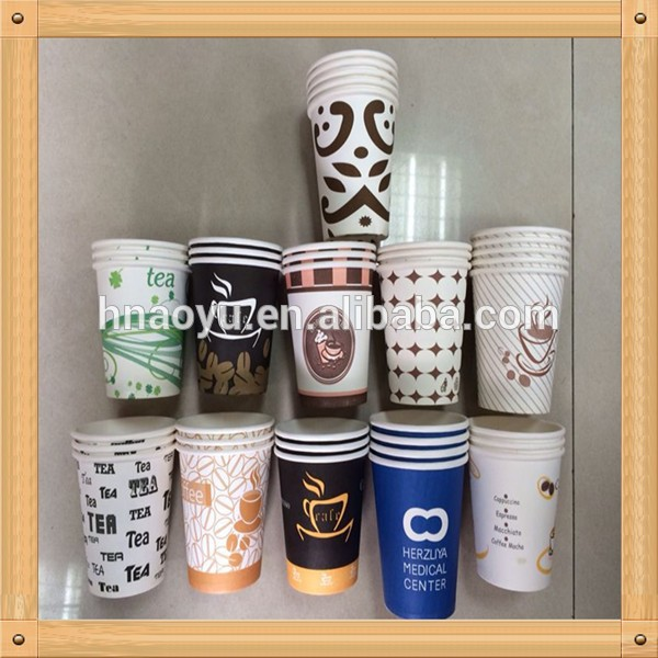 Food gread oil printed paper coffee carton cup