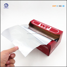 die cut piece roll or sheet embossed kitchen aluminium foil for household use(FDA SGS)
