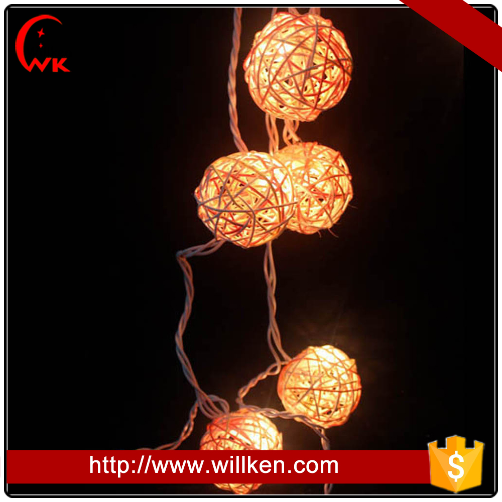 Decoration strip light handicrafts made of rattan