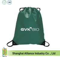 Promotional customized 190T polyester drawstring backpack bags