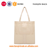 Hot-selling Convenient Simple Durable Large Capacity Fashionable White Canvas Tote Handbag