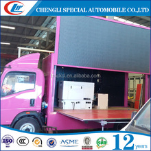 hot selling 4x2 mini mounted Outdoor truck mobile advertising led signboard truck P7 P8 P9 P10 advertising mobile stage van