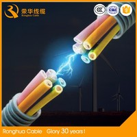 0.6/1 kv 3+1 cores \multicore JHS flexible rubber insulated low and medium voltage submersible motor cable