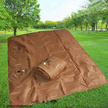 SGS Audited plain deyd customized logo outdoor picnic blanket waterproof