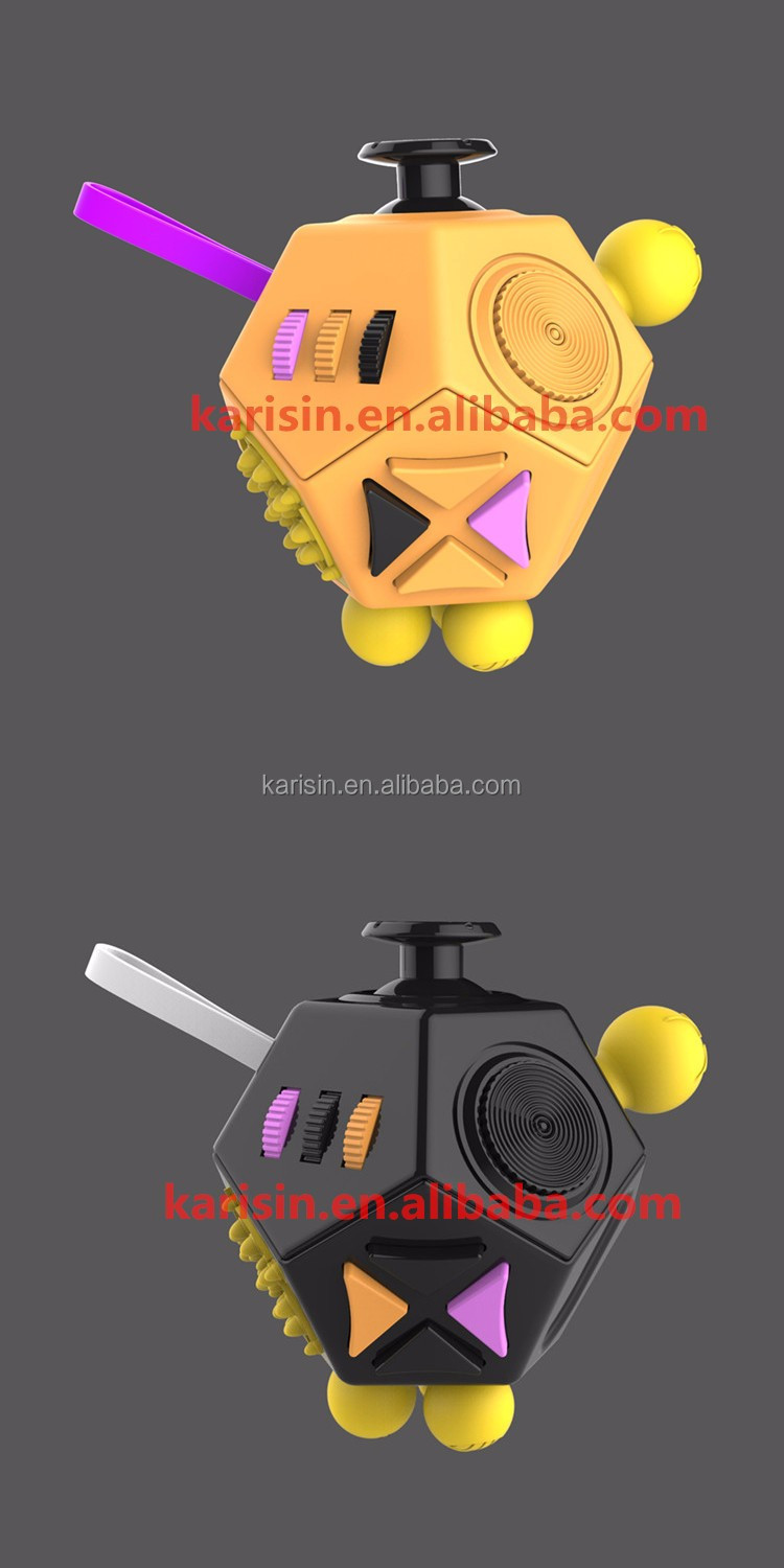 2017 New Design products 3D magic cube 12 sides fidget cube