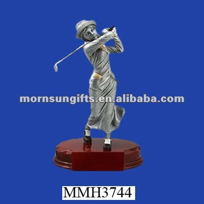 Wholesale customized resin golfer statue