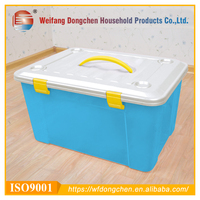 Food Grade PP Material Plastic Storage Case With Handle