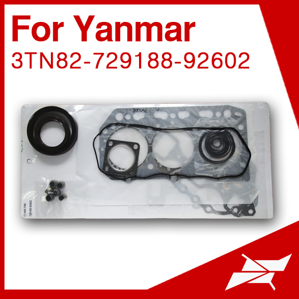 3TN82 3D82 overhaul gasket set for yanmar 3 cylinder diesel engine use