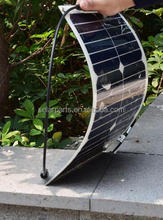 Small and Lightweight 18W customized Semi Flexible Solar Panel
