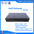 8 FXS+1LAN+1WAN VoIP Gateway Support Voice Coding ITU-T G.711A/G.711U/G.723.1/G.729 Auto-Negotiate with Call Agent