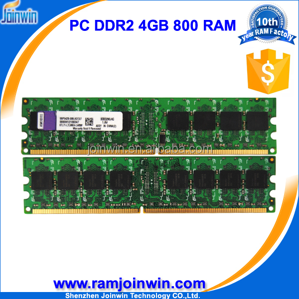Factory price compatible all motherboards ram ddr2 4gb for desktop with fully tested