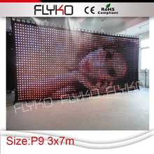 led video curtain indoor sexy movie play /blue firm video hot products