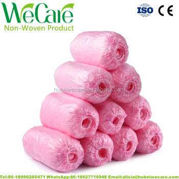 Disposable PE or CPE plastic boot shoe cover