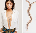 Simple fashion long style metal necklace, trendy hot y style necklace, 2017 stylish necklace