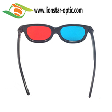 universal 3D plastic glasses/red blue cyan 3D glasses anaglyph 3d glasses