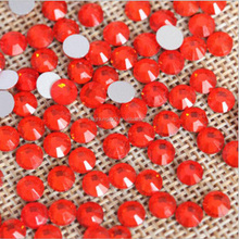 lt.siam Light Red Color Round ss3-ss34 Hot Fix Crystal Rhinestons For Nail Art