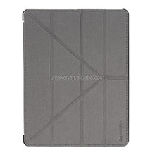 hot selling fashion stand style flip cover Floding leather case for ipad