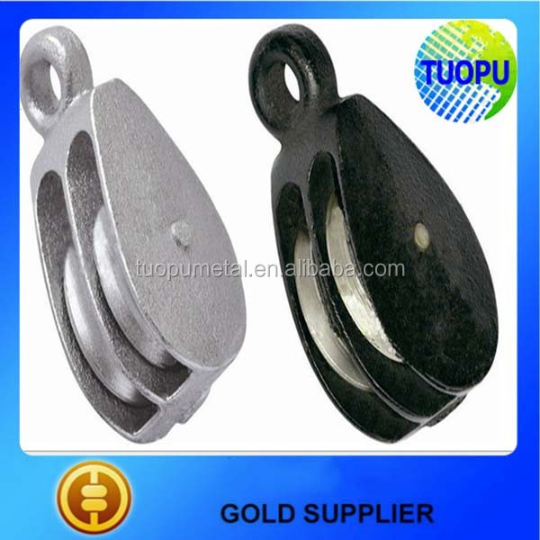 Top sell cast iron single sheave pulley black painted,black color coating pulley,cast iron black pulley