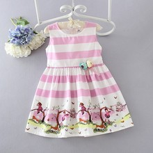 wholesale children's boutique clothing girls casual dresses kids simple cotton frock design