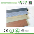 Backyard floor used mixed color anti-slip wood plastic composite wpc decking plank