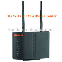 2T2R 300Mbps 4 Ethernet Ports Wireless 11n 3G ADSL2+ Modem Router KW5816